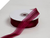 2.22 cm Satin Stripe Organza - Burgundy