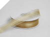 2.22 cm Satin Stripe Organza - Gold
