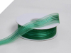 2.22 cm Satin Stripe Organza - Hunter