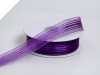 2.22 cm Satin Stripe Organza - Purple