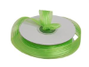 2.22 cm Satin Stripe Organza - Apple Green