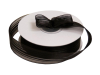 2.22 cm Satin Stripe Organza - Black