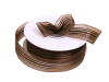 2.22 cm Satin Stripe Organza - Chocolate