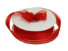 2.22 cm Satin Stripe Organza - Red