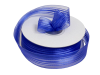 2.22 cm Satin Stripe Organza - Royal Blue