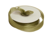 2.22 cm Satin Stripe Organza - Willow