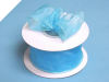 3.81cm Wired Organza-Turquoise