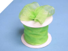 6.35cm x 22.86metres Wired Organza - Apple Green