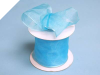6.35 cm Wired Organza-Turquoise