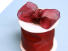6.35cm x 22.86metres Wired Organza - Burgundy