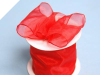 6.35 cm Wired Organza-Red