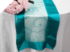 Motif Embroidery Table Runner - Turquoise