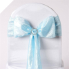 Light Blue Taffeta Crinkle Chair Sash