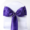 Purple Taffeta Crinkle Chair Sash
