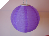 25.40cm Solar Powered Lantern-Purple