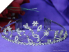 Rhinestone Flower Wedding Tiara with comb