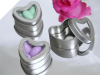 Silver Heart Mint Tins x 10