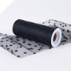 Polka Dot Tulle Roll 15.24cm x 9.14m - Black