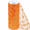 Glitter Polka Dot Tulle Roll 15.24cm x 9.14m - Orange