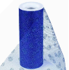 Glitter Polka Dot Tulle Roll 15.24cm x 9.14m - Royal Blue