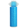 Glitter Tulle Roll 15.24cm x 22.86m - Turquoise