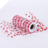 Heart Print Tulle Roll 15.24cm x 9.14m - Red