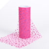 Sparkle Dot Tulle Roll 15.24cm x 9.14m - Fuchsia/Hot Pink