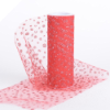 Sparkle Dot Tulle Roll 15.24cm x 9.14m - Red