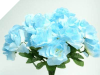Silk Open Rose - Light Blue 1-bunch