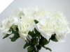 Silk Open Rose - Cream 1-bunch