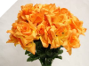 Silk Open Rose - Orange 1-bunch