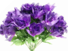 Silk Open Rose - Purple 1-bunch