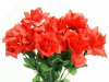 Silk Open Rose - Red 1-bunch