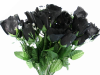 Silk Rose Buds - Black 1-bunch