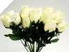 Silk Rose Buds - Cream 1-bunch