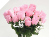 Silk Rose Buds - Pink 1-bunch