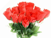 Silk Rose Buds - Red 1-bunch