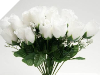 Silk Rose Buds - White 1-bunch