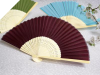 Asian Silk Folding Fans - Burgundy