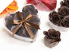Heart Rose Soap Petals-Chocolate