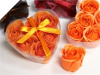 Heart Rose Soap Petals-Coral Orange