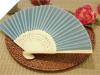 Asian Silk Folding Fans -Turquoise