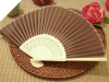 Asian Silk Folding Fans - Chocolate