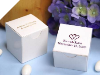 Personalized White Glossy Box - 100 Count