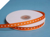 0.95 cm Grosgrain Polka Dot -Coral Orange