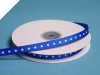 0.95 cm Grosgrain Polka Dot -Royal Blue