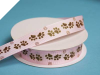 Cute Paw Grosgrain Ribbon - Pink