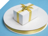 0.95 cm Satin Ribbon-Gold