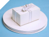 0.95 cm Satin Ribbon-White/Silver