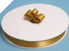 2.22 cm Satin Ribbon-Gold